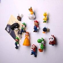 12/18PCS Mario magnet cartoon super decoration fridge magnets large size Creative PVC powerful Decoration
