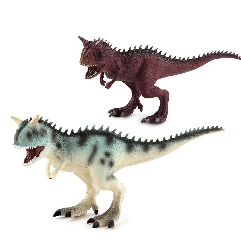 Wiben Jurassic Carnotaurus Action Figure Animal Model Collection Souvenir Plastic toy Dinosaur Birthday Gift #E dinosaur transformation plastic robot car action figure fighting vehicle with sound and led light toy model gifts for boy