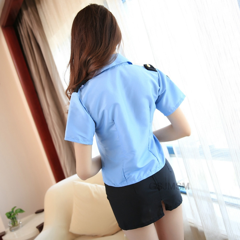 Sexy Policewoman professional attire stewardess clothing sexy underwear uniform babydoll Erotic Lingerie Set in Lingerie Sets from Novelty Special Use