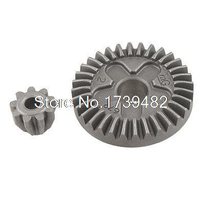 Angle Grinder Straight Bevel Gear Set 2 Pcs for Bosch GWS 6-100 metal spiral bevel gear set for bosch gws 6 100 angle grinder
