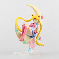 15cm Sailor Moon Action Figure Model Toy Doll Tsukino Usagi PVC Cake Decoration Girl Collection Gifts for Birthday