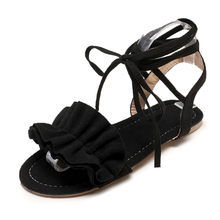 Ankle Strap Gladiator Sandals Women Flats 2019 Summer Tassel Shoes Ladies Wedding Beach Sandals Flat Heels Fashion Sandals Women недорого