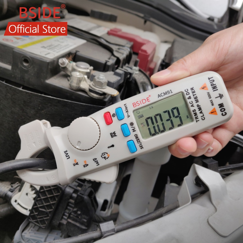 BSIDE Digital AC/DC Current Clamp Meter True RMS Car Repair Auto-Range Multimeter Live Check NCV Temp Frequency Capacitor TesterBSIDE Digital AC/DC Current Clamp Meter True RMS Car Repair Auto-Range Multimeter Live Check NCV Temp Frequency Capacitor Tester