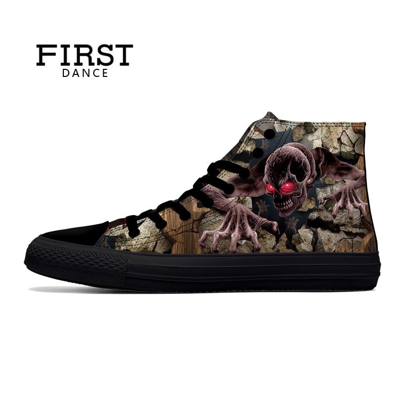 Zapatos Moda style5 style4 Negro Casuales Lona Zapatillas Altos Cráneo Los Primer Hombres Deporte Clásicos De Punk style2 style7 Bonito style6 style3 Style1 Baile RqWw78g