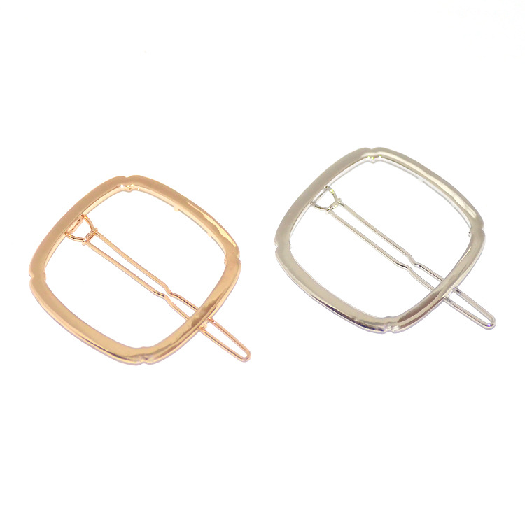Geometry Square Hair Clip Hairpins Fashion Branded Design Geometry Hairpins Accessories Women Jewelry