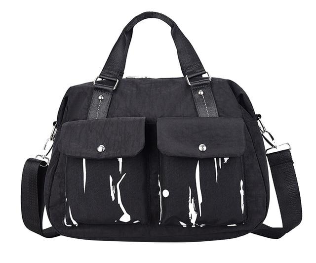 Spray Paint Women Bag Retro Street S Shoulder Bags Black Handbag Casual Daily Female Crossbody