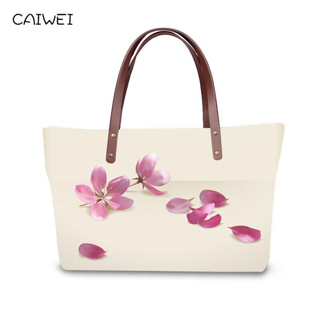 2e4ee79af090 US $24.95 36% OFF Pretty fancy flower women handbags casual large women's  shoulder bag famous brand top handle bags high quality ladies tote purse-in  ...
