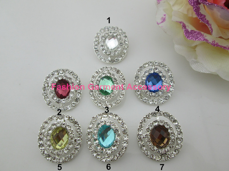 (CM693 25mm)free shipping! 100pcs clear sparking rhinestone alloy button