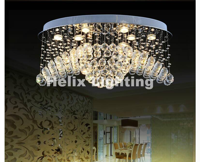 Nieuwe collectie crystal kroonluchter lichtpunt ovale vorm