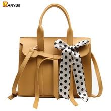 new design women handbag high quality pu leather bags women leather handbags large capacity shoulder bag scarf sac a main bolsa