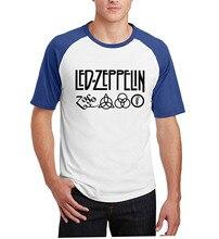 2017 Summer men harajuku top t shirts hipster raglan sleeves short sleeve t shirts Led Zeppelin Rock Zoso Band camisetas homme