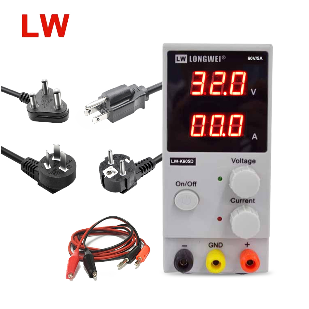 цена LW-K605D DC regulated power supply dual digital LED display 60V 5A laboratory switching power supply Current voltage adjustable