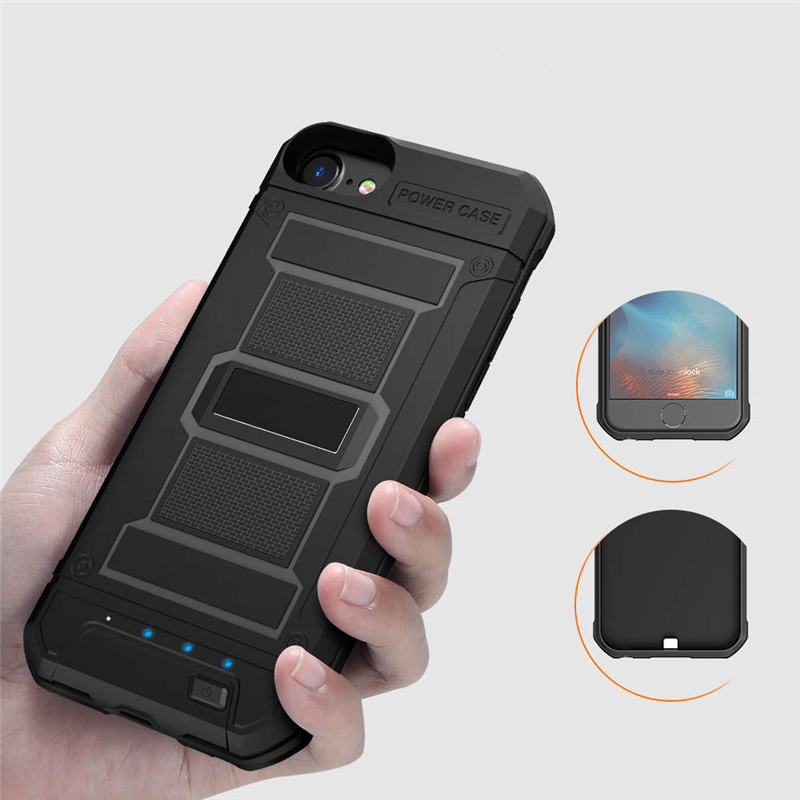 External 4200mAh Battery Charger Case For iPhone 8 7 6 6s Plus 3000mAh Armor Power Bank Backup Power Case For iPhone 8 7 6 Plus
