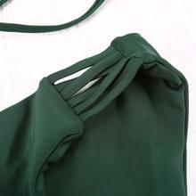 Two-pieces Push Up Brazilian Low Waist Bandage Swimsuit
