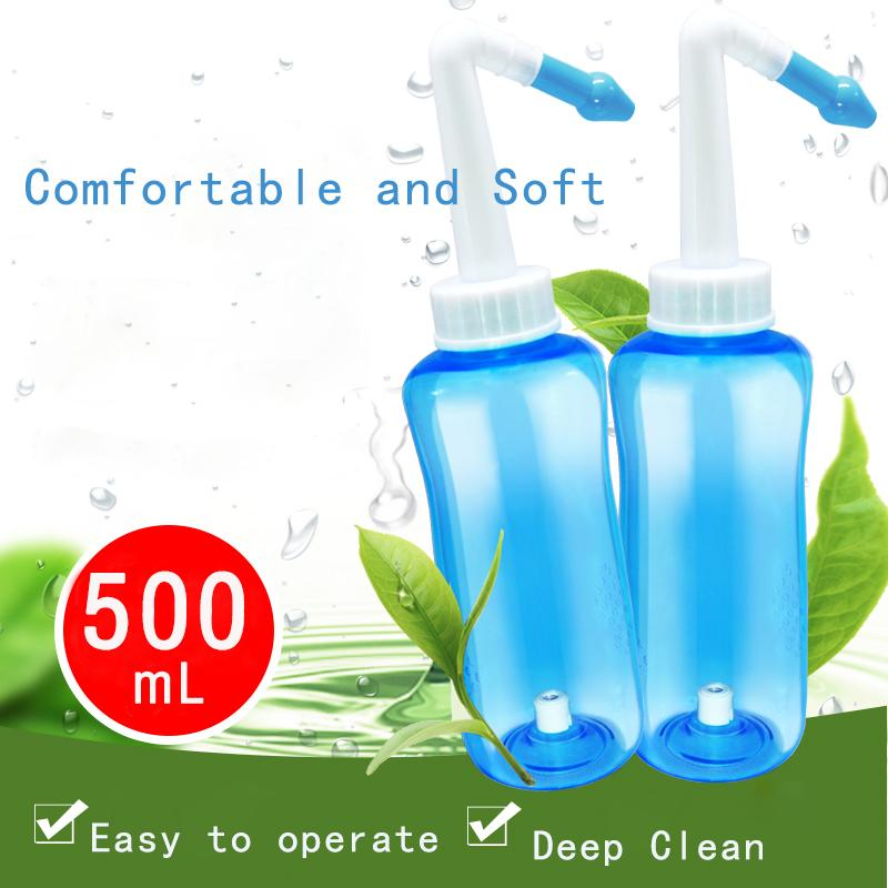Adults Children Sinus Allergies Relief Nasal Pressure Aspirator Nasal Wash Cleaner Nasal Wash Cleans Neti Pot Nose Protector(China)