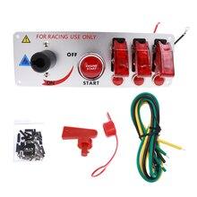 الأحمر LED تبديل سيارة لوحة مفاتيح اشتعال مع 2/4 تبديل صالح ل سباق ابدأ محرك سيارة دفع زر 12 V التبديل لوحة