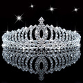 New Shiny Crystal Rhinestone Headband Silver Wedding Party Tiara Hair bands Bridal Hair Accessories Flower Girls Hairwear