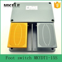 MKYDT1 15S free shipping industry IP67 fender foot operated switch with push button,infinity double pedal foot pedal switch