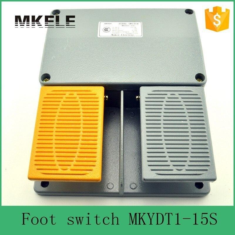 MKYDT1-15S livraison gratuite industrie IP67 garde-boue commutateur à commande au pied avec bouton poussoir, infinity double pédale pédale commutateur à pédale