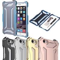 Di lusso di Alta Qualità In Oro Rosa di Alluminio del Metallo Antiurto Bumper Case Cover Cornice per il iphone 5 5 s SE 6 6 s/6 6 s Più Indietro casi