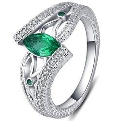 3 renk Bayanlar 925 anillos Gümüş Parmak Yüzük Akuamarin taş nişan yüzüğü kadınlar Için Taşlar Mavi/Kırmızı/Yeşil zirkon takı