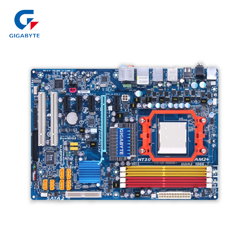 Gigabyte GA-MA770-S3P Original Used Desktop Motherboard MA770-S3P 770 Socket AM2+ DDR2 SATA2 USB2.0 ATX  free shipping original motherboard for gigabyte ga a55 s3p socket fm1 ddr3 32gb a55 s3p all solid atx desktop motherboard