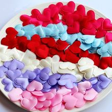 Hot 100 Pcs Wholesale New Popular Cute Fabric Heart Wedding Confetti Table Party Decoration Love Gift