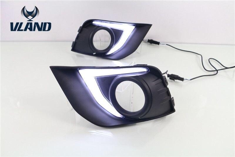 VLAND factory for Car fog lamp for ASX for Outlander LED daytime running light 2013 2014 2015 2016 for ASX DRL лампа hy 10 12 asx led
