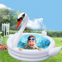 2019 New Type Inflatable White Swan Swimming Pool Convenient,Comfortable Portable