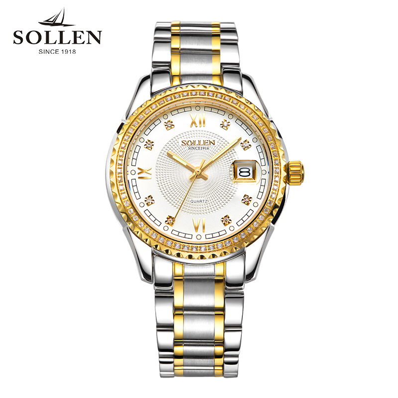 reloj hombre Luxury Quartz watches Men diamond watch 316L Full Steel waterproofl date clock reloj hombre wishdoit quartz watch men