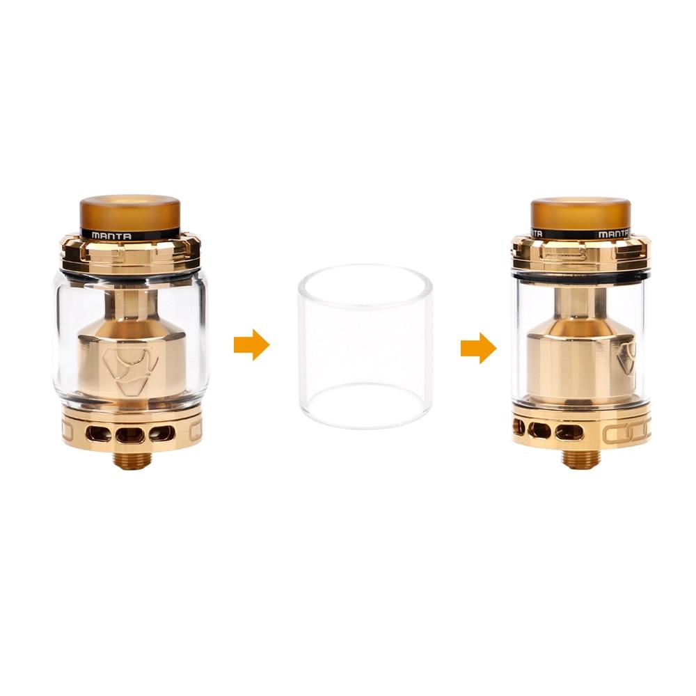 D'origine ADVKEN Manta RTA 5 ml/3.5 ml 24mm 5 ml/3.5 ml Capacité Grand Trou de Remplissage cigarette électronique atomiseur VS ammit double bobine RTA
