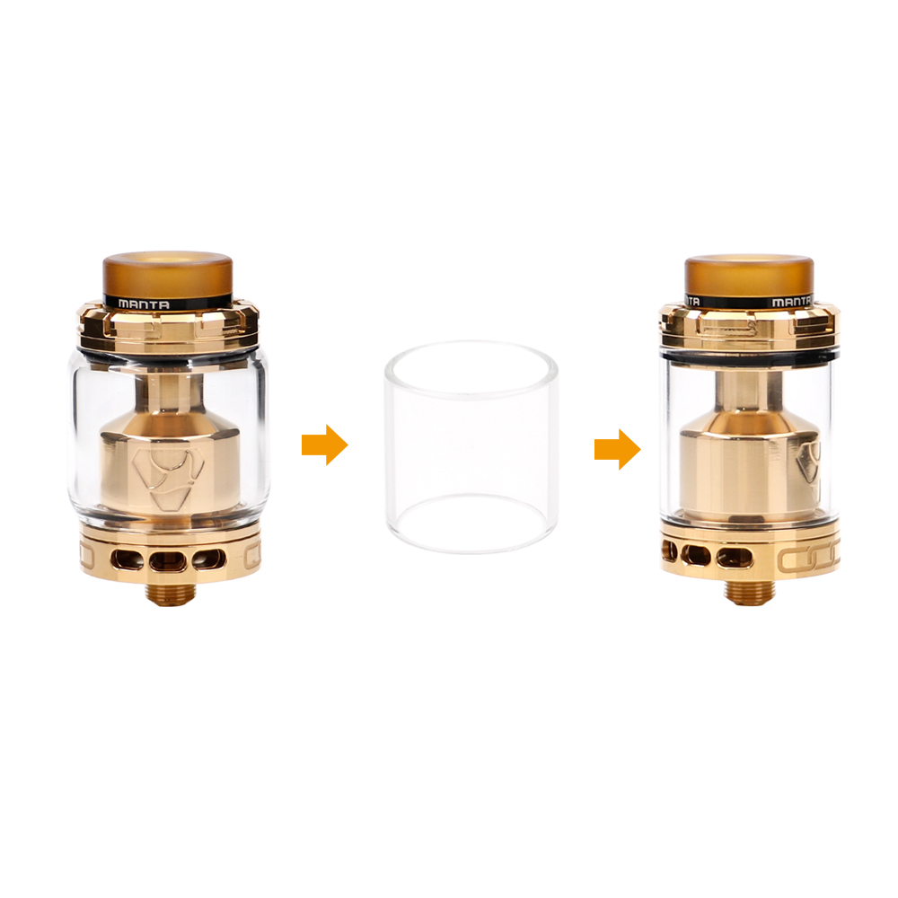 original ADVKEN Manta RTA 5ml/3.5ml 24mm 5ml/3.5ml Capacity Big Refill Hole electronic cigarette atomizer VS ammit dual coil RTA original joyetech procore remix tank 2ml 4 5ml rta rda sub ohm atomizer support dual single coil electronic cigarette tank
