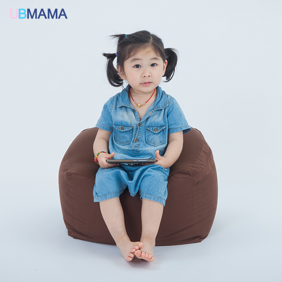 Small children lazy bean bag chair sofa sofa seat stool baby nursery bag slip detachable children sofa 0.5MM particle foam sofa lazy sofa bean bag with pedal creative single sofa bedroom living room lazy stool tatami