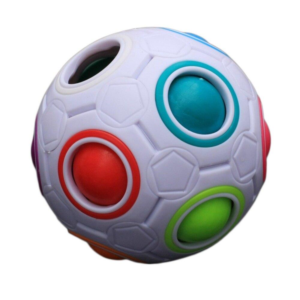 Kreatív szivárvány labdarúgás kreatív labda gyerekek gyerekek gömb alakú mágikus kocka játék tanulási és oktatási puzzle játékok meleg eladó