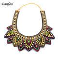 Bohemia Handmade Choker Necklace Women Bead Sewing Collar Ethnic Torques Statement Necklace Maxi Jewelry Multicolor Accessories