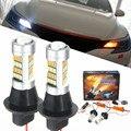2x Высокой Мощности 1000LM 7440 2835 20 Вт Canbus Ошибка Бесплатно Car авто Передняя Поворотов DRL Дневные Ходовые Огни Лампы Лампы