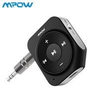 Mpow Bluetooth V4.1 приемник автомобильный аудио-адаптер Встроенный 2 микрофоны 15 часов игрового времени Hands-free для дома автомобиля звук Системы