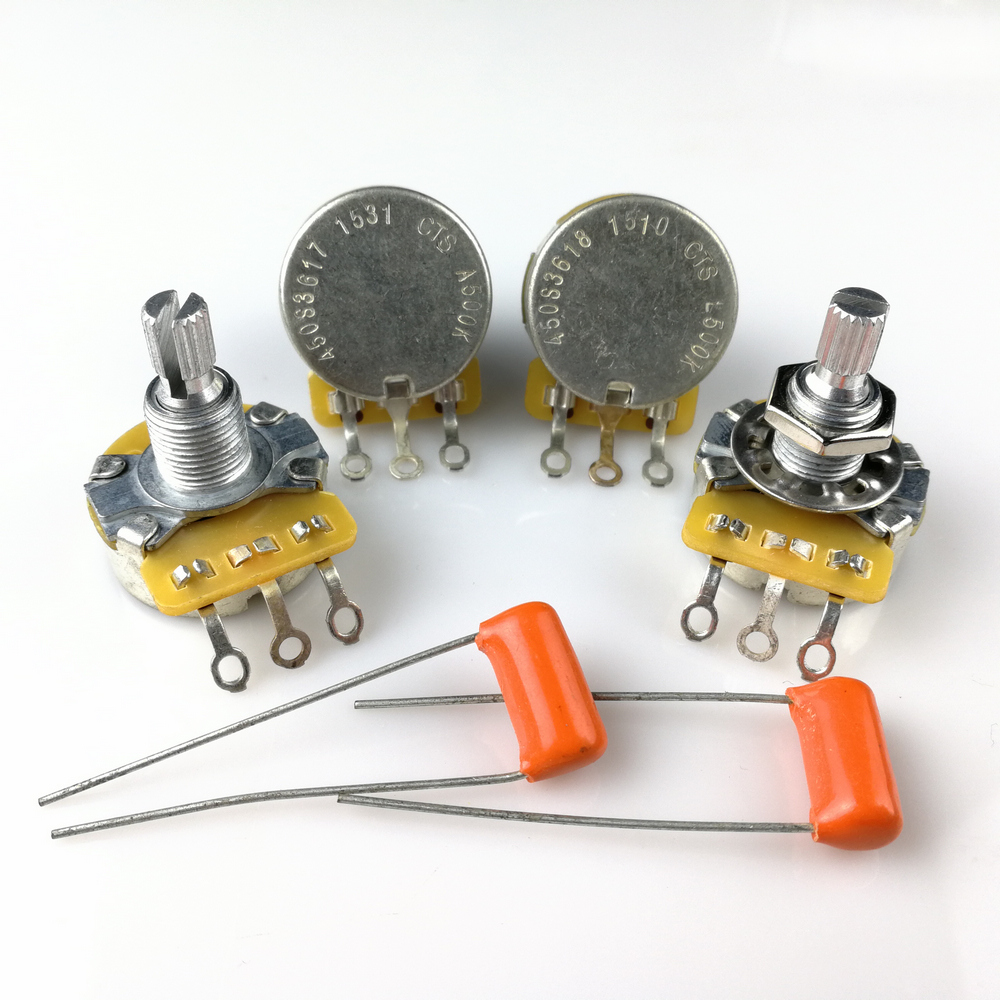 CTS Tone Volume Knob A500K L500K Potentiometer For Electric Guitar Bass Potentiometer 450 POT Sound