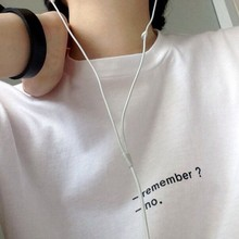 REMEMBER ?NO .Unisex fashion T shirt girls tumblr top tees high quality t shirt women casual