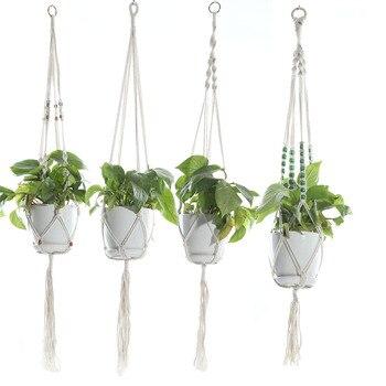 Вешалки для растений в макраме, 3 разных упаковки, подвесные корзины для растений в помещении, подвесные держатели для растений, декоративны...