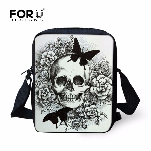 2813fadfcd FORUDESIGNS 3D Skull Casual Shoulder Bags For Women Small Messenger Bag  Woman Handbags Mini Cross-body Bag Mini Mochila Infantil