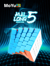 MFJS Meilong 5X5 Stickerless speed cube Moyu Mofang Jiaoshi 5X5X5 Magic cube YuXin Black Kirin 5X5