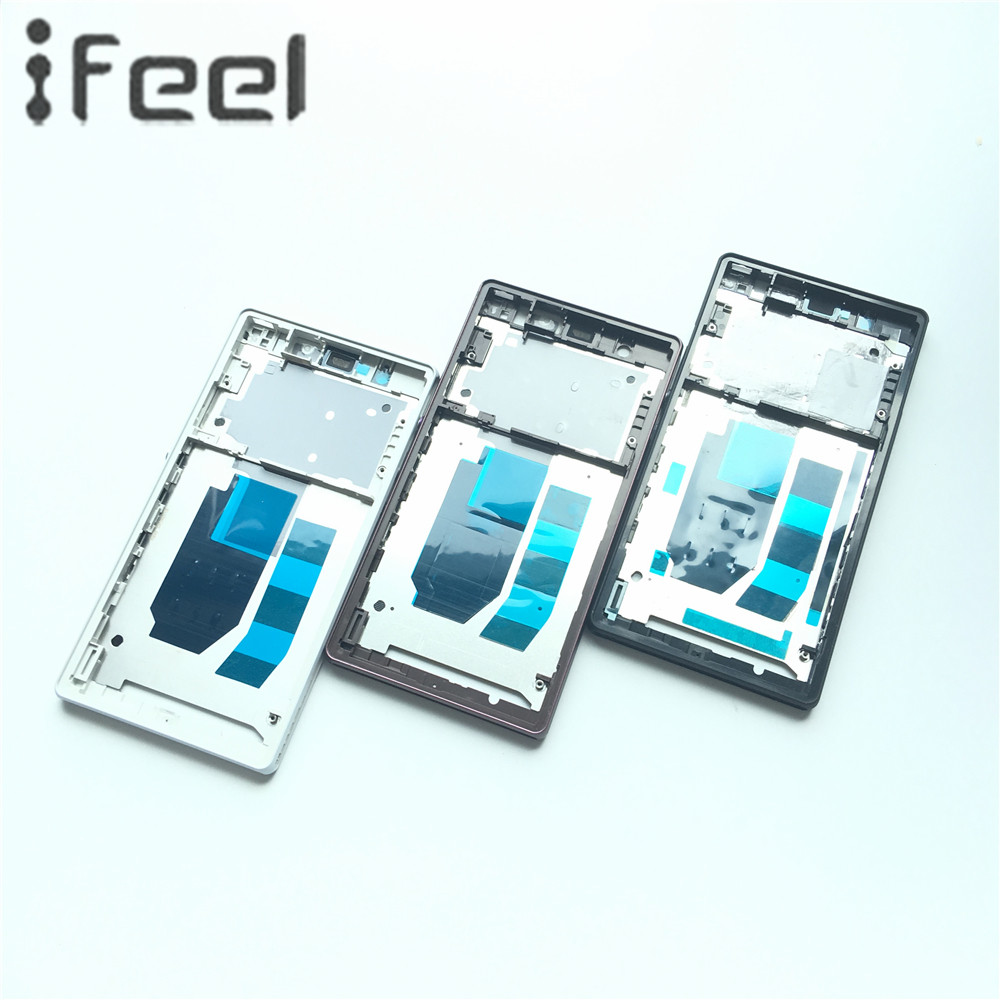 New Front Middle Frame Bezel Plate Chassis Housing For Sony Xperia Z L36H LT36 C6603 C6602 BlackWhitePurple