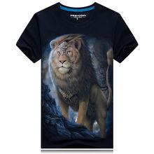 SALMAN Neue Männer T-shirt Mond Lion King Bild 3D Art und weise Kurzhülse Persönlichkeit