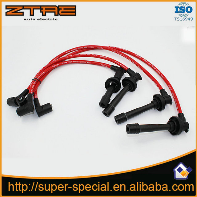 racing spark plug wire 10 2mm for 1988-2000 sohc honda civic d15/d16  blue/red