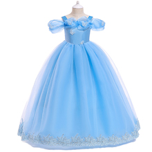 Fairy Tale Princess Dress Halloween Christmas Cosplay Fancy Up Cute Kids Girls Ball Gown Long Vintage