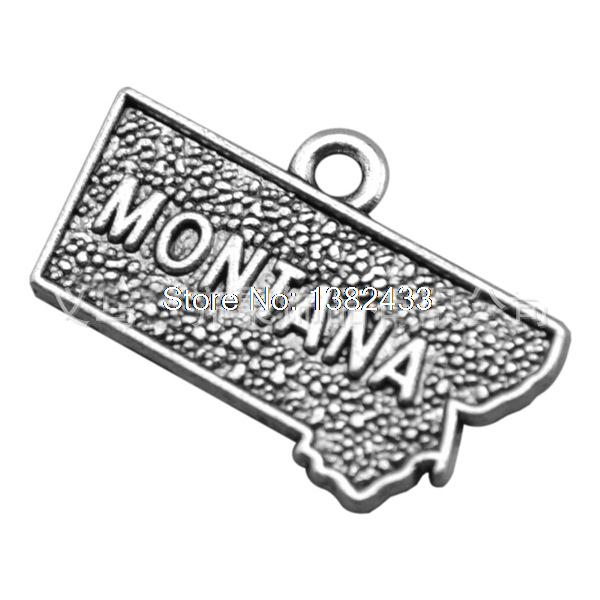 10pcs--montana Charms Antique Tibetan Silver Illinois Charms Pendants ,diy Supplies 22mm X 14mm Demand Exceeding Supply