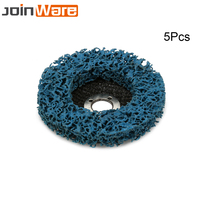 5Pcs/set Poly Strip Disc Abrasive Tools Rust Removal Clean For Angle Grinder 100x16mm Blue