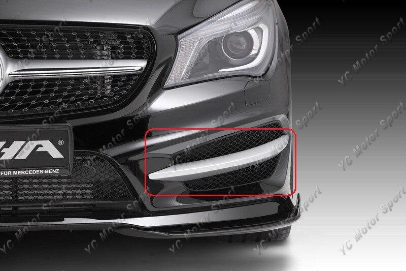 2013-2014 Mercedes Benz W117 C117 CLA Class Piecha Style Front Bumper Canard CF (12)