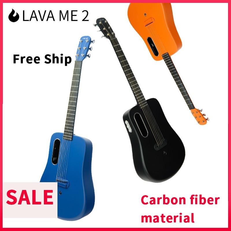 2019 Electronic Guitar 36 Inch 1.65kg LAVA ME 2 Ballad Carbon Fiber Guitar Unisex Beginners Students Practice Show Guitar